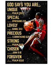 Basketball God Says You Are 11x17 Poster front
