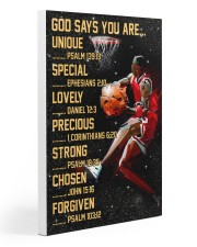 Basketball God Says You Are 20x30 Gallery Wrapped Canvas Prints thumbnail