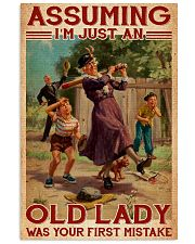 Softball - Assuming I'm Just An Old Lady  11x17 Poster front