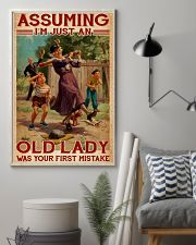 Softball - Assuming I'm Just An Old Lady  11x17 Poster lifestyle-poster-1