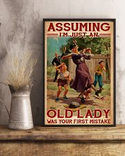 Softball - Assuming I'm Just An Old Lady  11x17 Poster lifestyle-poster-3