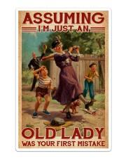 Softball - Assuming I'm Just An Old Lady  Sticker - Single (Vertical) thumbnail