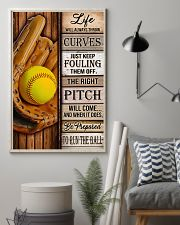 Softball Life Will Always Throw Curves 11x17 Poster lifestyle-poster-1