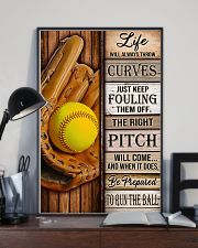 Softball Life Will Always Throw Curves 11x17 Poster lifestyle-poster-2