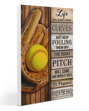 Softball Life Will Always Throw Curves Gallery Wrapped Canvas Prints tile