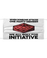 Game We All Roll For Initiative Sticker Cloth face mask thumbnail