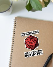 Game We All Roll For Initiative Sticker Sticker - Single (Vertical) aos-sticker-single-vertical-lifestyle-front-16