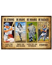 Baseball - Be Strong 17x11 Poster front