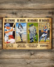 Baseball - Be Strong 17x11 Poster poster-landscape-17x11-lifestyle-14