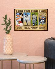 Baseball - Be Strong 17x11 Poster poster-landscape-17x11-lifestyle-21
