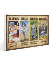 Baseball - Be Strong Gallery Wrapped Canvas Prints tile