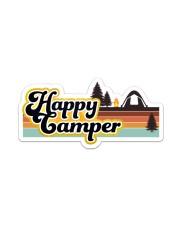 Happy Camper Sticker Sticker - Single (Vertical) front