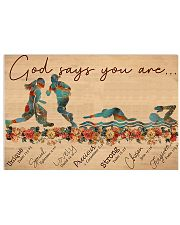 Basketball and Swim  - God Says You Are 17x11 Poster front
