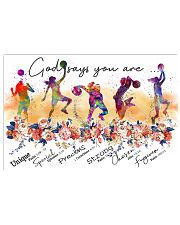 Basketball - God Says You Are 17x11 Poster front