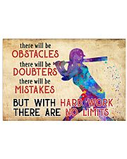 Softball - No Limits  17x11 Poster front