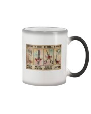 Hair Stylist - Be Strong Poster 19 Color Changing Mug thumbnail