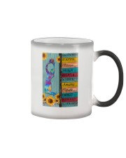 Volleyball-Says You Are Beautiful Color Changing Mug tile