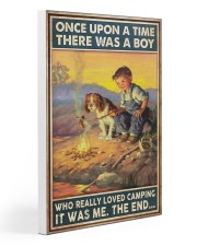 Camping Boy Once Upon A Time Gallery Wrapped Canvas Prints tile