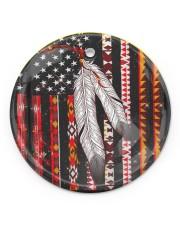 Native Feather Circle Ornament (Porcelain) tile