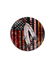 Native Feather Circle Magnet tile