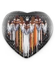 Native Heart Heart ornament - single (porcelain) front