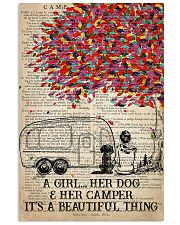 Camping Dog - A Girl Her Dog And Her Camper  11x17 Poster front