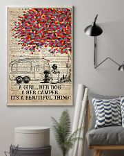 Camping Dog - A Girl Her Dog And Her Camper  11x17 Poster lifestyle-poster-1