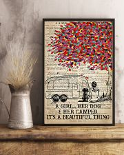 Camping Dog - A Girl Her Dog And Her Camper  11x17 Poster lifestyle-poster-3