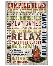 Camping - Camping Rules 11x17 Poster front