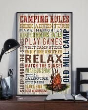 Camping - Camping Rules 11x17 Poster lifestyle-poster-2
