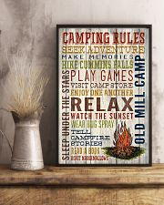 Camping - Camping Rules 11x17 Poster lifestyle-poster-3