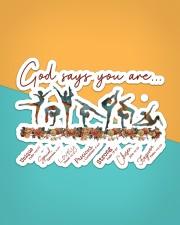 Gymnastics - God Says You Are Sticker - Single (Horizontal) aos-sticker-single-horizontal-lifestyle-front-02