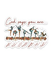 Gymnastics - God Says You Are Sticker - Single (Horizontal) front