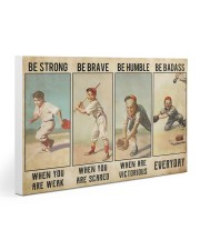 Baseball - Be Strong Poster 30x20 Gallery Wrapped Canvas Prints thumbnail