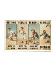 Baseball - Be Strong Poster Sticker - Single (Horizontal) thumbnail