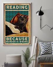 Reading Because Murder Is Wrong 11x17 Poster lifestyle-poster-1