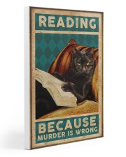 Reading Because Murder Is Wrong 20x30 Gallery Wrapped Canvas Prints thumbnail