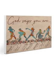 Softball - God Says You Are 30x20 Gallery Wrapped Canvas Prints thumbnail