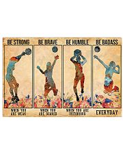 Volleyball - Be Strong 17x11 Poster front