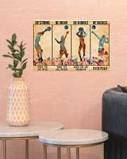 Volleyball - Be Strong 17x11 Poster poster-landscape-17x11-lifestyle-21