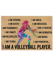 I Am A Volleyball Player 17x11 Poster front