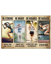 Running Be Strong 17x11 Poster front