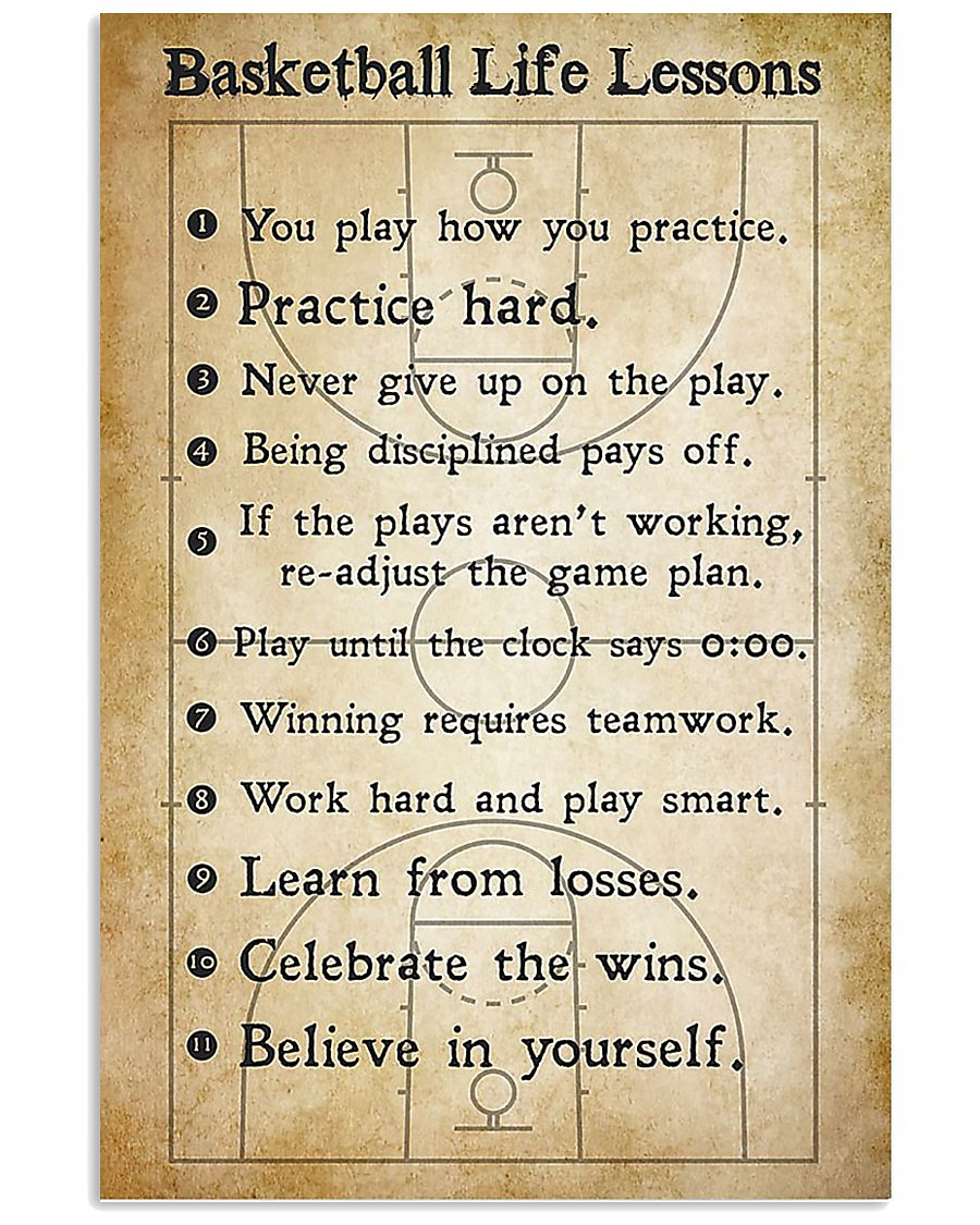 basketball-life-lessons Vertical Unframed Poster size 24x36 inch