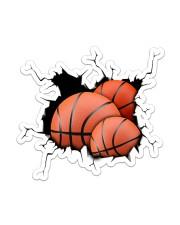 Basketball Crack V1 Sticker - Single (Vertical) front