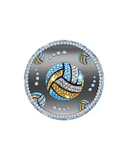 Blue Volleyball Circle Magnet tile