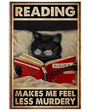 Book - Reading Makes Me Feel Less Murdery 11x17 Poster front