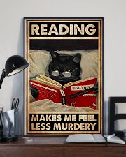 Book - Reading Makes Me Feel Less Murdery 11x17 Poster lifestyle-poster-2