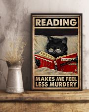 Book - Reading Makes Me Feel Less Murdery 11x17 Poster lifestyle-poster-3
