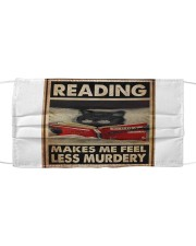 Book - Reading Makes Me Feel Less Murdery Cloth face mask thumbnail