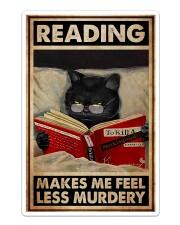 Book - Reading Makes Me Feel Less Murdery Sticker - Single (Vertical) thumbnail